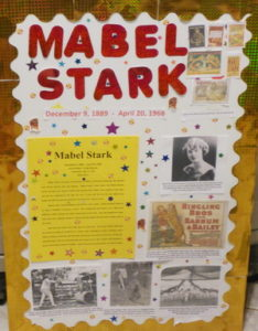 Mabel Stark, Living Museum, Brina, 5th grade, school, fun, activity