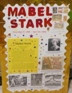 Mabel Stark, Living Museum, Brina, 5th grade, school, fun, activity